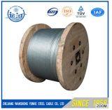 Brin de fil d'acier/corde galvanisés de câble haubanage de séjour/fil d'acier d'Ungalvanized