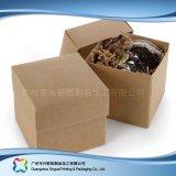 Boîte-cadeau de empaquetage de bijou de pliage bourrée par plat de papier d'emballage (xc-pbn-013)