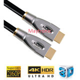 China Fabricante Metal Casing Cabo HDMI com 3D, 4k