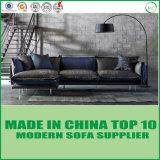 Bâti de sofa à la maison moderne de cuir véritable avec la clavette
