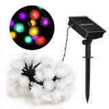 Chuzzle 50 LED Boule de lumière solaire Noël chaîne Outdoor étanche Festival des lumières décoratives pour Party des Fêtes