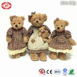 꽃무늬 드레스 귀여운 공상 견면 벨벳 부대를 가진 앉는 장난감 곰