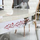 Большая нержавеющая сталь размера с мраморный обедая таблицей для трактира использовала