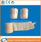 Atadura elástica médica do Crepe com dois grampos
