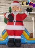 Decoración de Navidad inflable de dibujos animados muñeco de nieve para Publicidad
