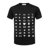 La última camiseta corta Unsexed 100% de la funda del algodón del diseño de marca de fábrica