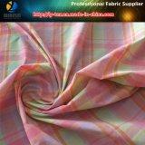 Tela teñida hilado colorido de nylon de la verificación de Shirting de las mujeres