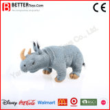 Brinquedo macio realístico do rinoceronte do luxuoso do animal En71 enchido para crianças
