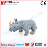 Jouet mou de rhinocéros de peluche de peluche réaliste pour des gosses d'enfants