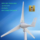 300W de horizontale Turbine van de Wind met Controlemechanisme MPPT