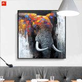 Pintura al óleo gruesa del elefante de Hnadmade de la textura