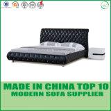 Base del cuoio genuino della mobilia della camera da letto di svago doppia