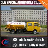 저가 및 최신 판매! Dongfeng 4X2 두 배 내각 하수 오물 흡입 트럭