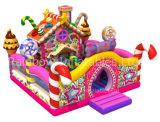 De Opblaasbare Speelplaats van het suikergoed, Zoet Huis Bouncy Opblaasbare Funcity