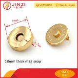 bouton-poussoir instantané magnétique de bouton de 18mm pour l'ajustage de précision de cahier d'accessoires de sac
