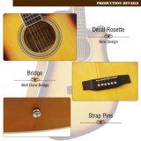 Preiswerte bunte Akustikgitarre für Anfänger