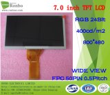 본래 Innolux At070tn92 7 인치 800X480 RGB 50pin 250CD/M2 LCD 디스플레이