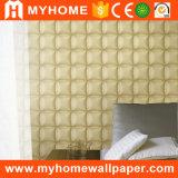 Papel de empapelar de la decoración 3D del dormitorio con el vinilo lavable