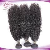 Монгольского Afro продукты волос Remy Kinky курчавых волос Weave пачки человеческих волос выдвижений ферзя