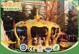 Fibra de Vidrio Eléctrica caballo de montar mecánico 24 asientos Carrusel para la venta