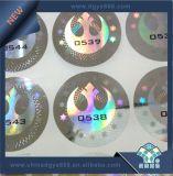 Etiqueta de combate à falsificação de holograma a laser 3D com número de série