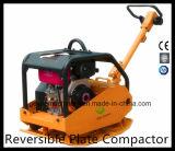 Compactador de chapa reversível de gasolina com Honda Engine Gyp-50