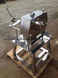 Chapa de Aço Inoxidável pequeno filtro da estrutura e pressione