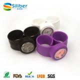 Montre imperméable à l'eau bon marché de tape de silicones de qualité