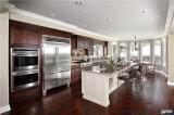Armadietto di legno della cucina della ciliegia americana italiana di stile con il portello alzato
