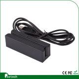 Msr100 Leitor de cartão magnético pequeno, leitor de cartão magnético Msr magnético conectado ao PC ou Mac via teclado Wedge ou interface USB