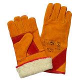 Кожаные перчатки сварки с Boa полной внутренней панели боковины