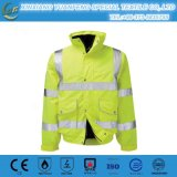 高い可視性Reflevtive 2枚の調子の安全作業冬の人のジャケット