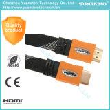 Высокое качество 2,0 В AM/Am плоский Нейлоновый кабель HDMI для HDTV
