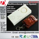 Alarma de control remoto con SOS Finder Anti perdió y la función de timbre