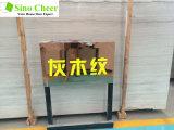 Losa de madera gris clara del mármol del grano con el precio blanco de las venas