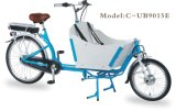 En15194 26インチ2の車輪の鉄骨フレームのオランダの電気大人の貨物バイク