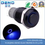 Interruttore momentaneo dell'automobile DIY dell'interruttore di pulsante del metallo blu dell'anello LED