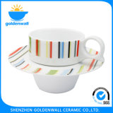 Kop van de Koffie van het Porselein 225ml van de gezondheidszorg de Eenvoudige met Schotel