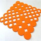 Placemat sentiu o Coaster decorativo do Doily do Crochet do Coaster de Rosa
