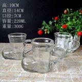 el vidrio 220ml anuda la taza con la maneta 7.5oz