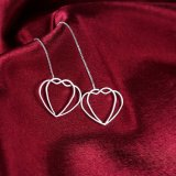 Juwelen van de Oorringen van de Manier van de Tegenhanger van de Vorm van het hart de Zilveren