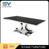 Mobiliário de aço inoxidável 12 mm do vidro de mesa de Vidro mesa de café