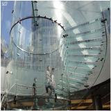 verre trempé de 6mm-12mm avec les bords Polished pour la clôture de syndicat de prix ferme/balustrade