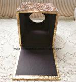 Sostenedor cristalino cuadrado casero del tejido del Rhinestone de la servilleta de la toalla del envase del rectángulo del tejido del diamante del coche (TB-Cuadrado 017)