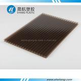 Het berijpte Holle Blad van PC van het Polycarbonaat van het Brons UV Beschermde