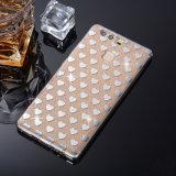 Caso abundante protetor Shinning do Glitter de Bling para Huawei P9