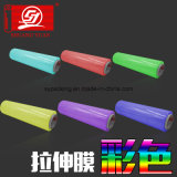 Film coloré d'enveloppe de film d'extension de main de la résistance 80gauge LLDPE de pénétration