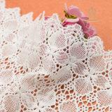 구슬로 장식되는 국경 레이스 또는 백색 꽃 신부 레이스 손질 또는 최신 손 및 자수 디자인