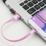Cabo USB curto, cabo de sincronização de dados de carregamento Micro USB 2.0 colorido