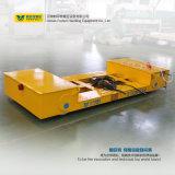 La guida motorizzata ha guidato il carrello ferroviario pesante di trasporto di maneggio del materiale